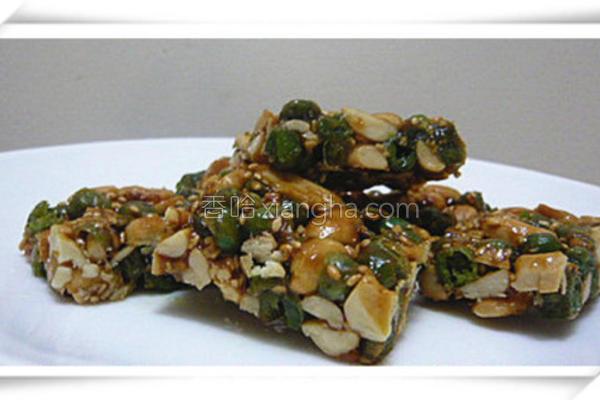 青豆芝麻花生糖的做法
