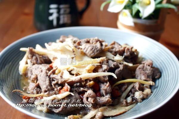 当归姜丝炒羊肉的做法