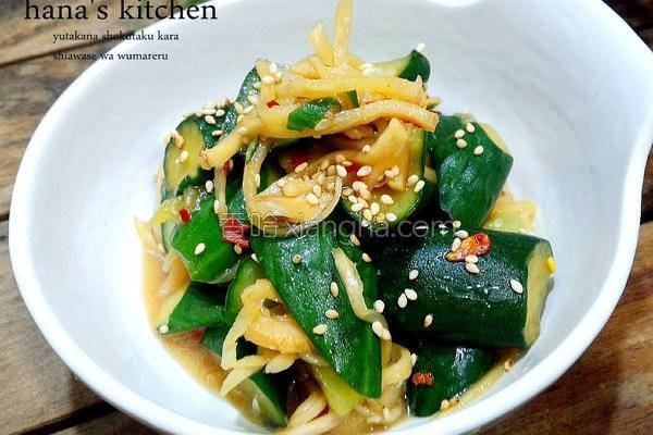 日式凉拌小黄瓜的做法