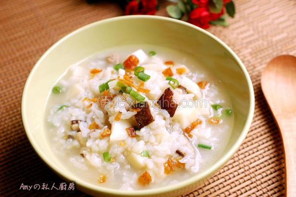 香菇竹笋粥的做法