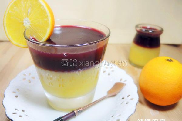 柳橙桑椹果冻的做法