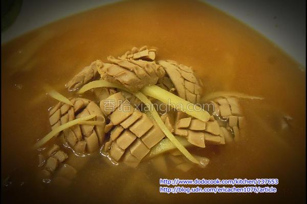 麻油猪腰汤的做法