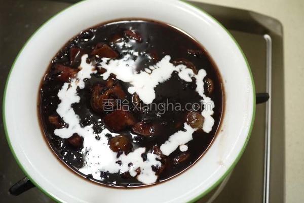 芋香紫米粥的做法