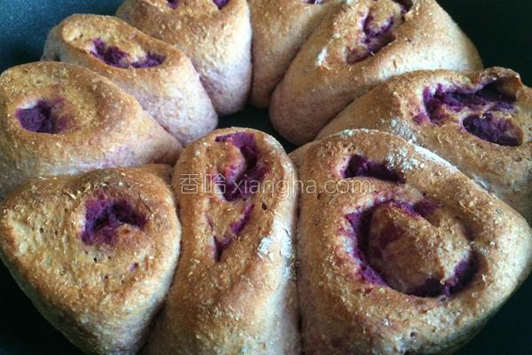 全麦胚芽紫薯卷的做法