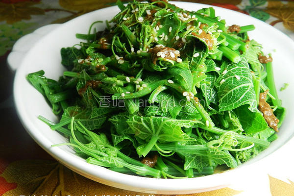 芝麻酱拌龙鬚菜的做法