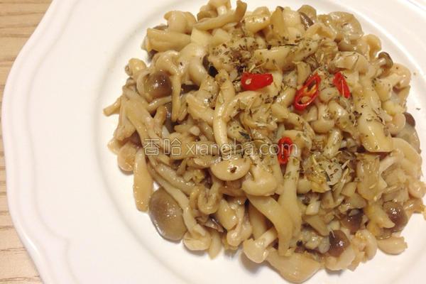 低热量蒜香雪白菇的做法