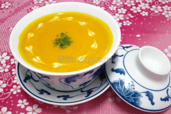 南瓜菇菇浓汤的做法