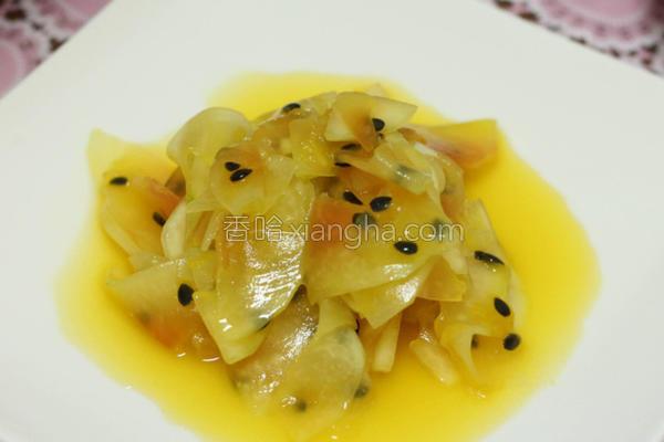 凉拌柠檬百香木瓜的做法
