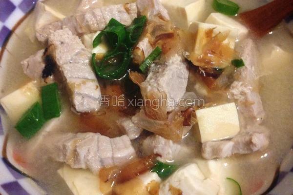鲜鱼味噌汤的做法