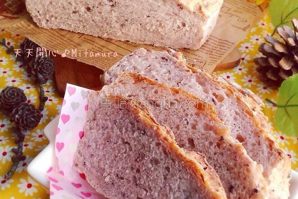 紫米乡村面包的做法