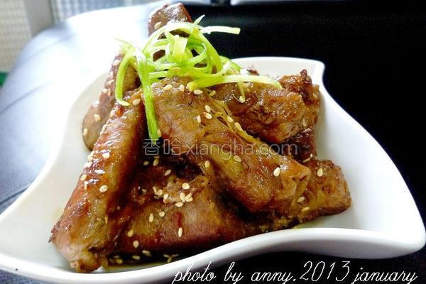 牛蒡肉卷煮しめ的做法