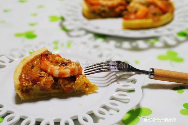 咖哩鲜虾咸派的做法