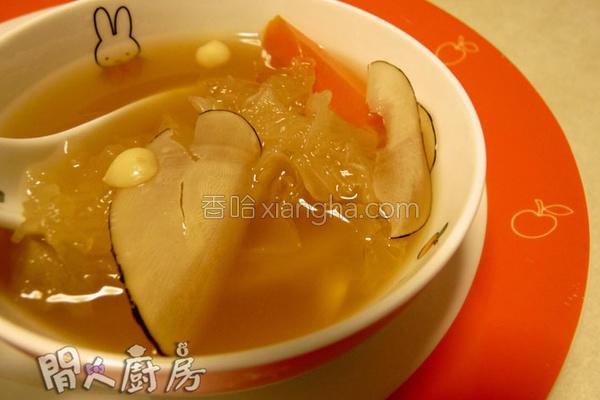 海底椰雪耳猪展汤的做法