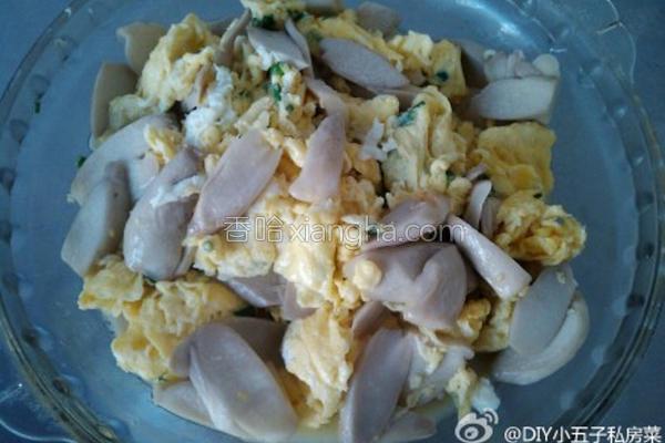 鲍茹炒鸡蛋的做法