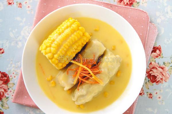 奶油玉米白菜卷的做法
