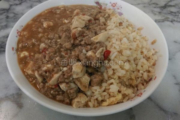 麻婆豆腐烩炒饭的做法