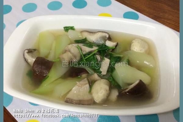 鲜菇菜心汤的做法