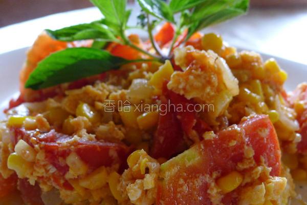 番茄玉米蛋的做法