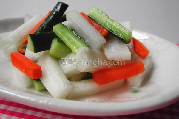 酸甜港式泡菜的做法