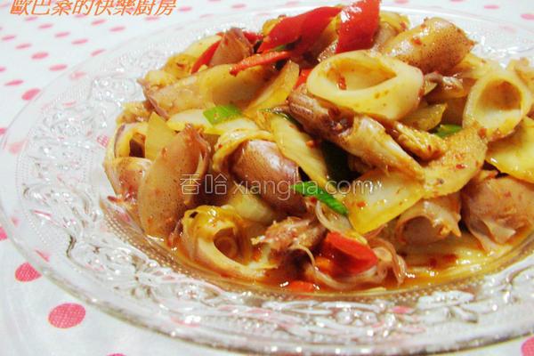 韩式炮菜辣味墨鱼的做法