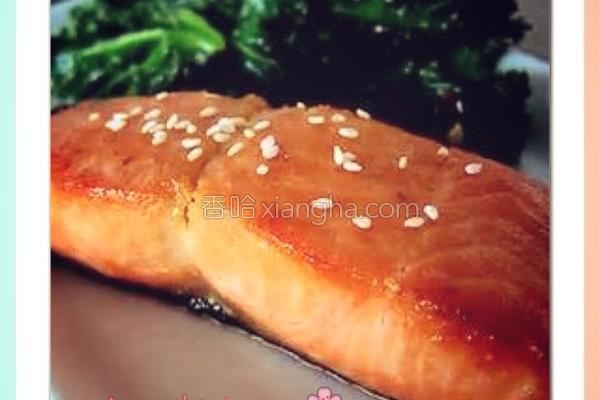 柚子蜜煎鲑鱼的做法