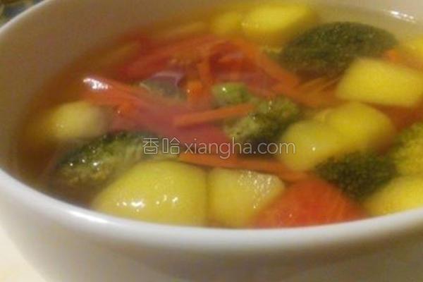 番茄苹果蔬菜汤的做法