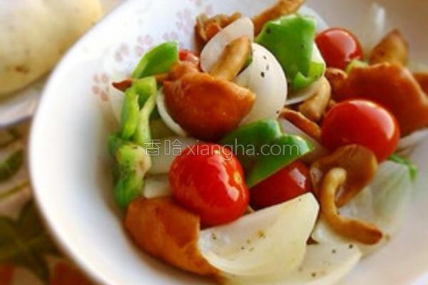 滑子菇炒鲜蔬的做法