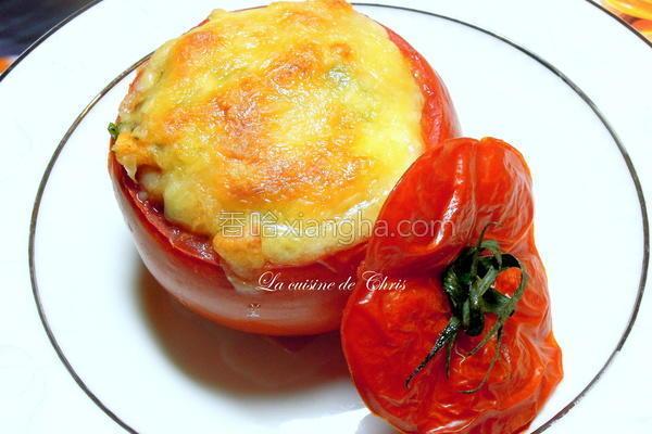 焗烤番茄盅的做法