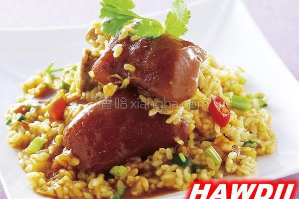 咖哩猪脚炖饭的做法