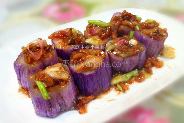虾米伴茄子的做法