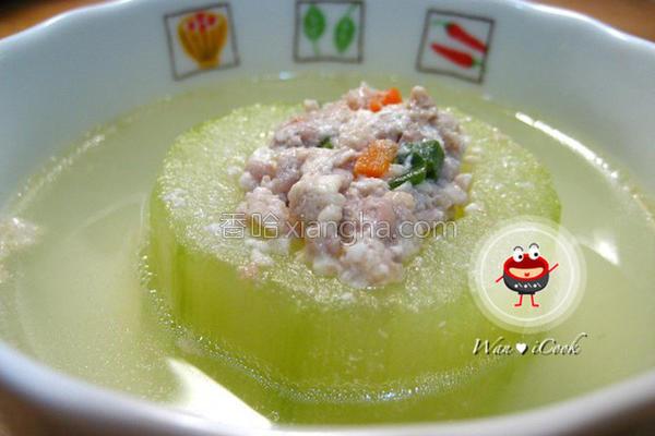 大黄瓜镶肉丸汤的做法