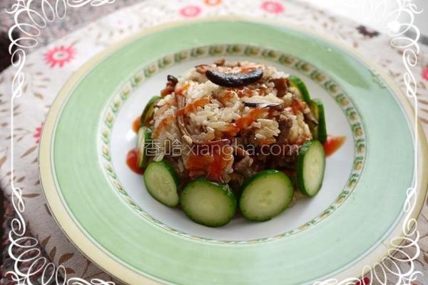 鱿鱼香菇油饭的做法