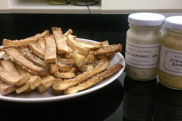 奶油糖粒吐司条的做法