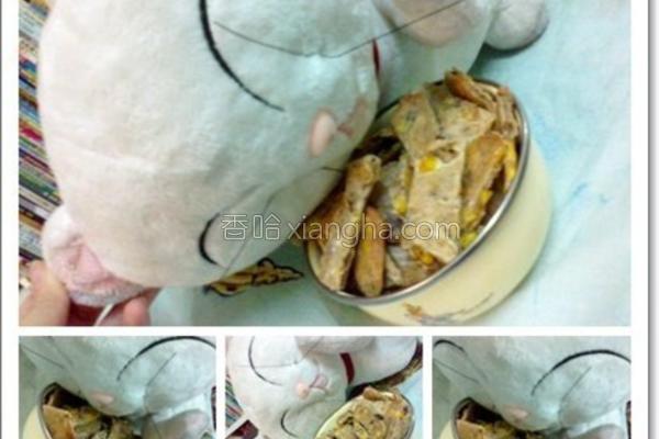 猫咪鸡干鲔鱼饼的做法