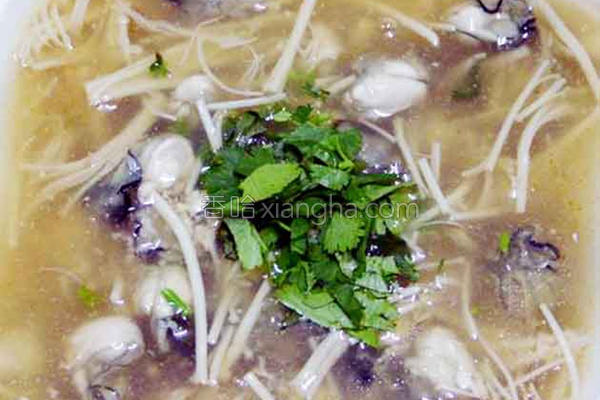 金针菇鲜蚵羮的做法