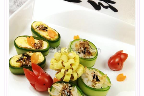 小黄瓜饭卷的做法