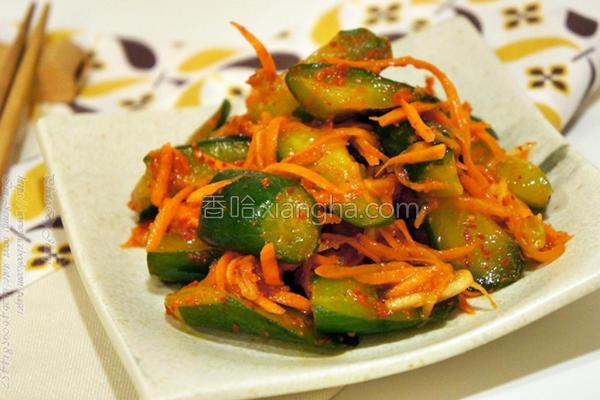 韩式黄瓜泡菜的做法