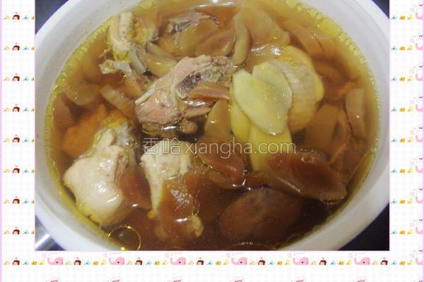 菜心炖鸡汤的做法