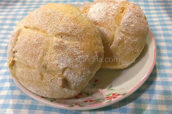 免揉坚果乡村面包的做法