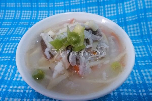 香菇竹笋瘦肉粥的做法