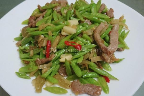 榨菜肉丝四季豆的做法