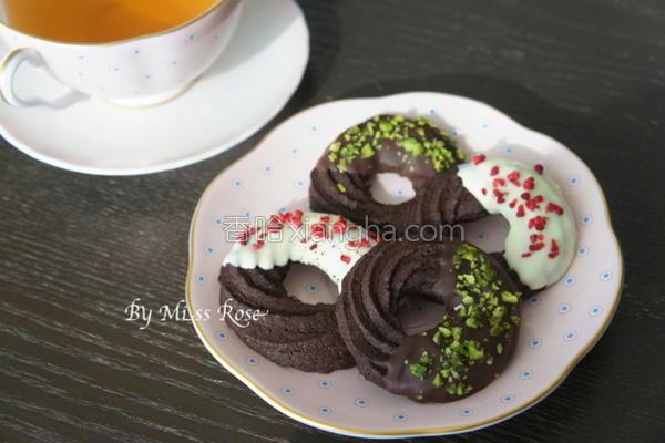 巧克力奶酥圈的做法