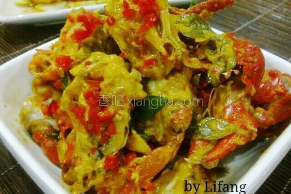 干烧青咖喱奶油蟹的做法
