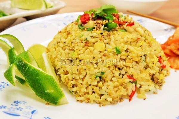 泰式蟹肉炒饭的做法
