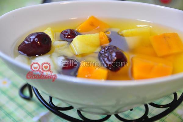 百合红枣甜品的做法
