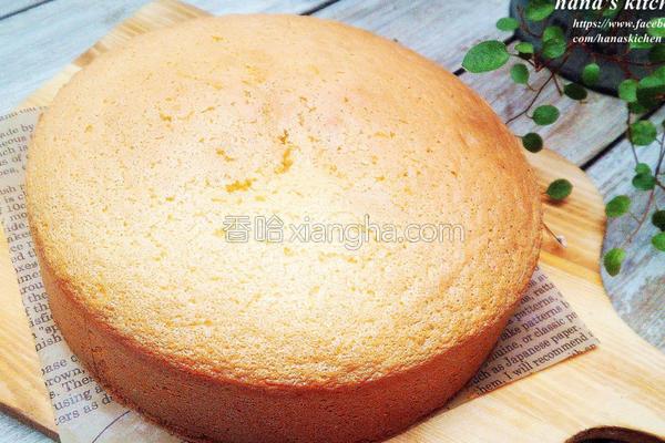 日式基础海绵蛋糕的做法