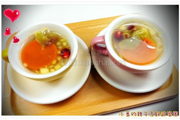 酒酿水果年糕汤的做法