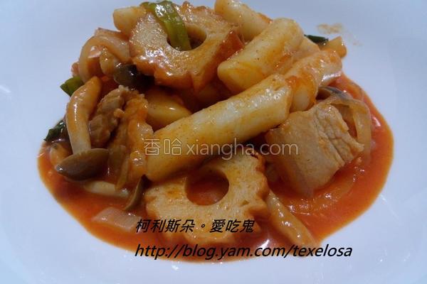 韩式辣酱炒年糕的做法
