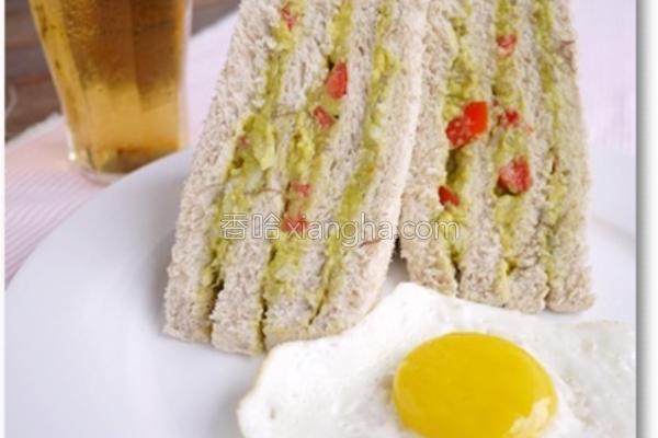 酪梨莎莎酱三明治的做法