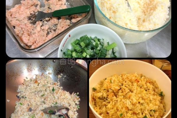 鲑鱼黄金蛋炒饭的做法